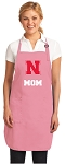 University of Nebraska Mom Apron Pink - MADE in the USA!