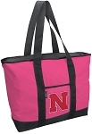 Deluxe Pink University of Nebraska Tote Bag