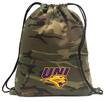 Northern Iowa Drawstring Backpack Green Camo
