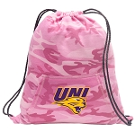 Northern Iowa Drawstring Backpack Pink Camo