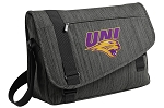 Northern Iowa Messenger Laptop Bag Stylish Charcoal