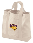 University of Northern Iowa Tote Bags NATURAL CANVAS
