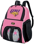 Girls University of Northern Iowa Soccer Backpack or UNI Panthers Volleyball Bag