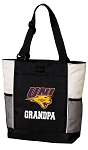 University of Northern Iowa Grandpa Tote Bag White Accents