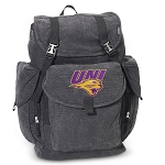 Northern Iowa LARGE Canvas Backpack Black