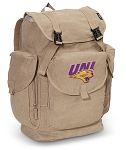 UNI Northern Iowa LARGE Canvas Backpack Tan
