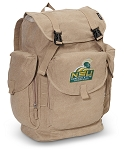 Norfolk State LARGE Canvas Backpack Tan