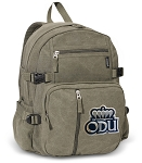 Old Dominion University Canvas Backpack Olive