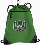 Ohio Bobcats Drawstring Backpack Mesh and Microfiber