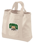 Ohio University Tote Bags NATURAL CANVAS