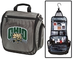 Ohio University Toiletry Bag or Ohio Bobcats Shaving Kit Gray