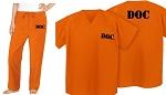 PRISONER Costume Convict Uniform Costume 2 Pc SET