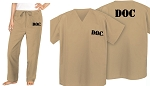 Tan Prison Costume Jail Uniform for OITNB Fans
