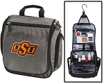 Oklahoma State Toiletry Bag or Shaving Kit Gray