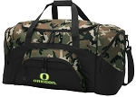 Official University of Oregon Camo Duffel Bags