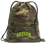 University of Oregon Drawstring Backpack Green Camo