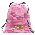 University of Oregon Drawstring Backpack Pink Camo