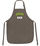 University of Oregon Dad Deluxe Apron Khaki