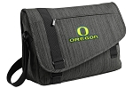 University of Oregon Messenger Laptop Bag Stylish Charcoal