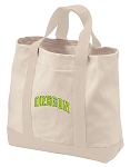 University of Oregon Tote Bags NATURAL CANVAS