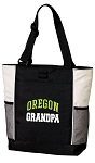 University of Oregon Grandpa Tote Bag White Accents