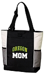 University of Oregon Mom Tote Bag White Accents