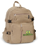 University of Oregon Canvas Backpack Tan
