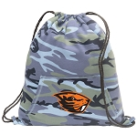 Oregon State Drawstring Backpack Blue Camo