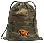 Oregon State Beavers Drawstring Backpack Green Camo