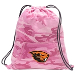 Oregon State Beavers Drawstring Backpack Pink Camo