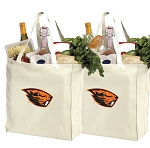 Oregon State Shopping Bags OSU Beavers Grocery Bags 2 PC SET