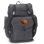 Oregon State University LARGE Canvas Backpack Black