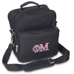 Phi Mu Small Utility Messenger Bag or Travel Bag