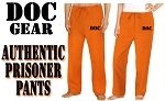 Prison Costume Pants DOC Convict Uniform Costume
