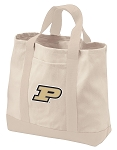 Purdue University Tote Bags NATURAL CANVAS