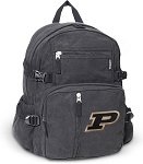 Purdue University Canvas Backpack Black