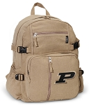 Purdue Canvas Backpack Tan