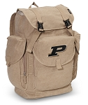 Purdue LARGE Canvas Backpack Tan