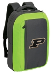 Purdue SLEEK Laptop Backpack Green