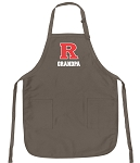 Official Rutgers Grandpa Apron Tan