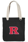 RUTGERS Tote Bag RICH COTTON CANVAS Black
