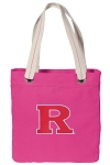RUTGERS Tote Bag RICH COTTON CANVAS Pink