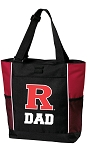 Rutgers University Dad Tote Bag Red
