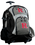 RUTGERS Rolling Backpack Black Gray