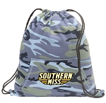 Southern Miss Drawstring Backpack Blue Camo