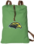 Southern Miss Cotton Drawstring Bag Backpacks Cool Green