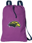 Southern Miss Cotton Drawstring Bag Backpacks Cool Purple