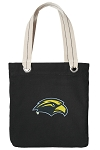 Southern Miss Tote Bag RICH COTTON CANVAS Black
