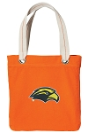 Southern Miss Tote Bag RICH COTTON CANVAS Orange