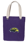 Southern Miss Tote Bag RICH COTTON CANVAS Purple